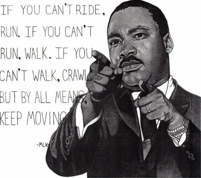 Martin Luther King with quote
